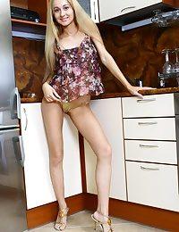 Striptease in a kitchenette