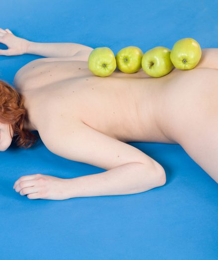 Lovely naked redhead