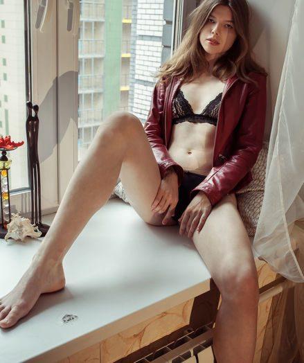 Horny naked model