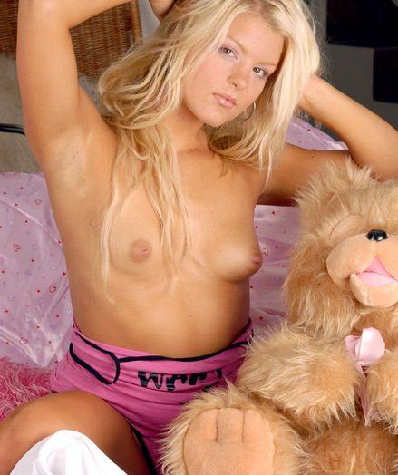 Blonde beauty rubs