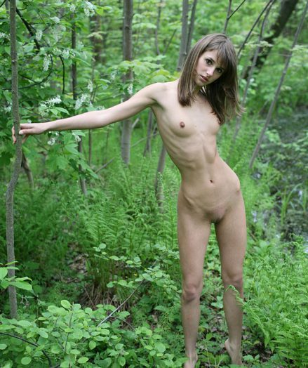 Teen Girl in Forest