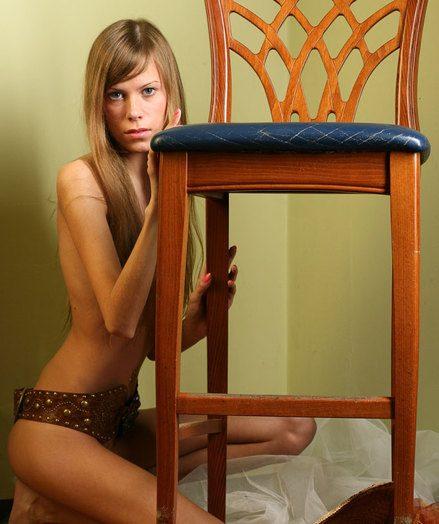 Slim teen model